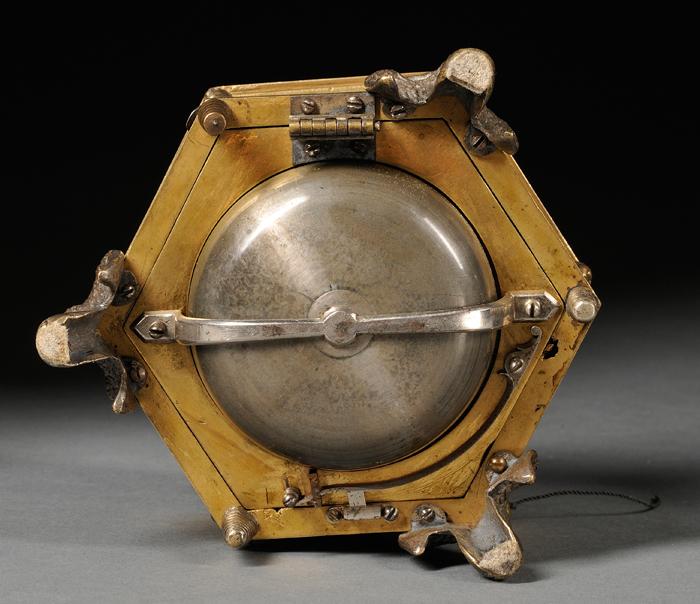 Brass Grande Sonnerie Table Clock by Joseph Rose & Son