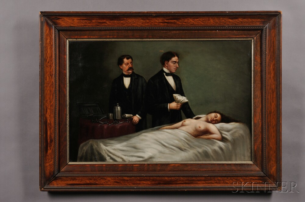 Oil on Canvas of a Mastectomy Surgery