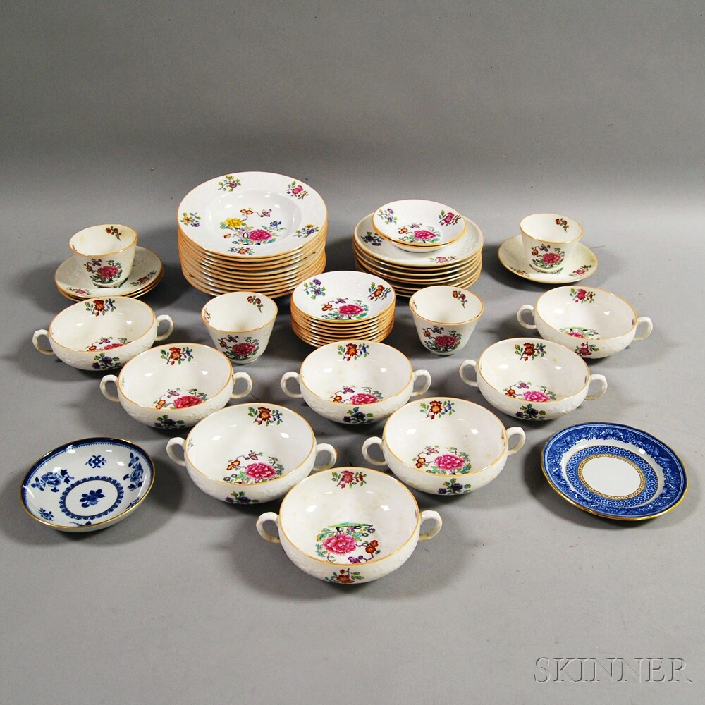 "Forty-eight Pieces of Mostly Copeland Spode ""Daphne"" Tableware.     Estimate $200-300"
