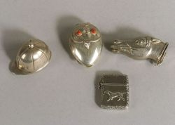 Four Small Silver Boxes