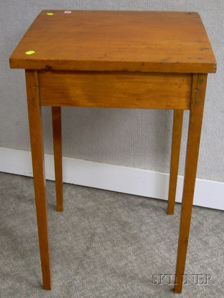 Pine and Birch Stand with Tapering Legs.