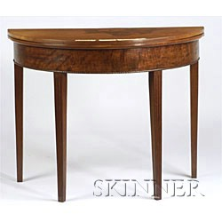 Federal Mahogany Demi-lune Card Table,