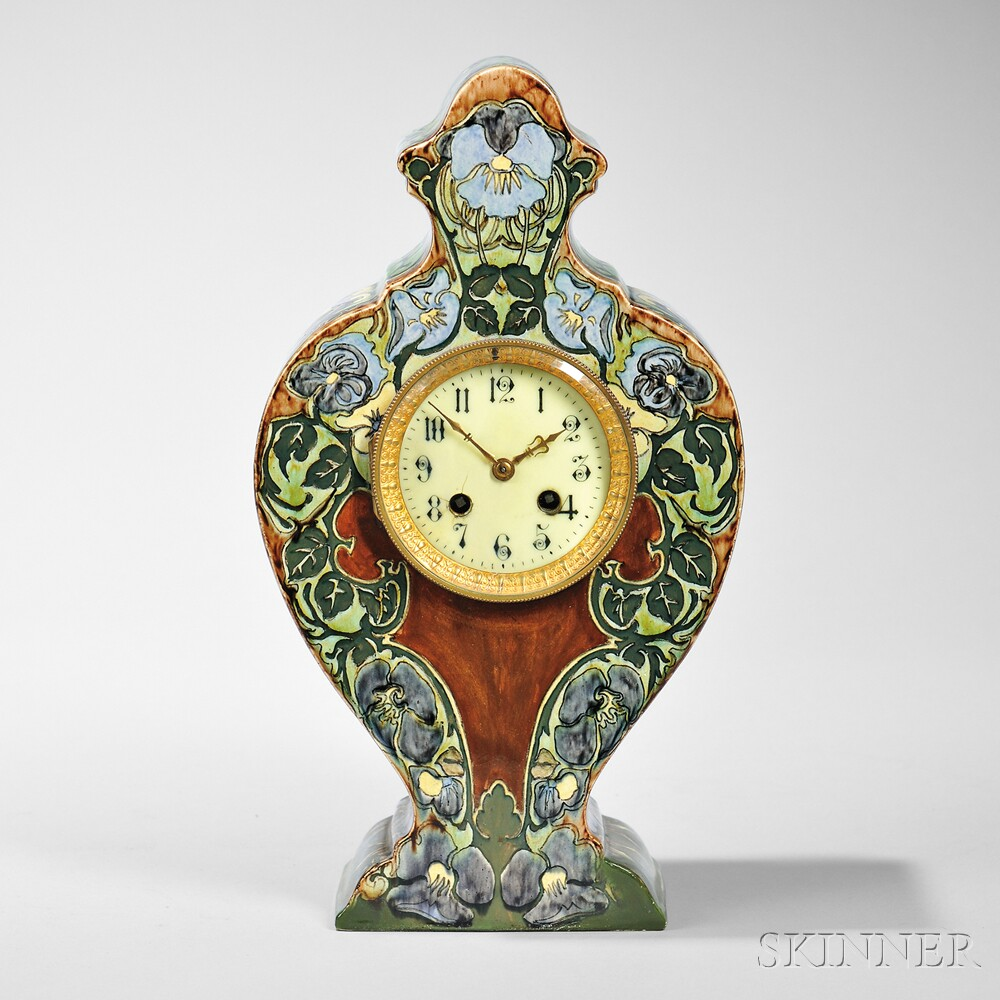 Rozenberg Pottery Mantel Clock