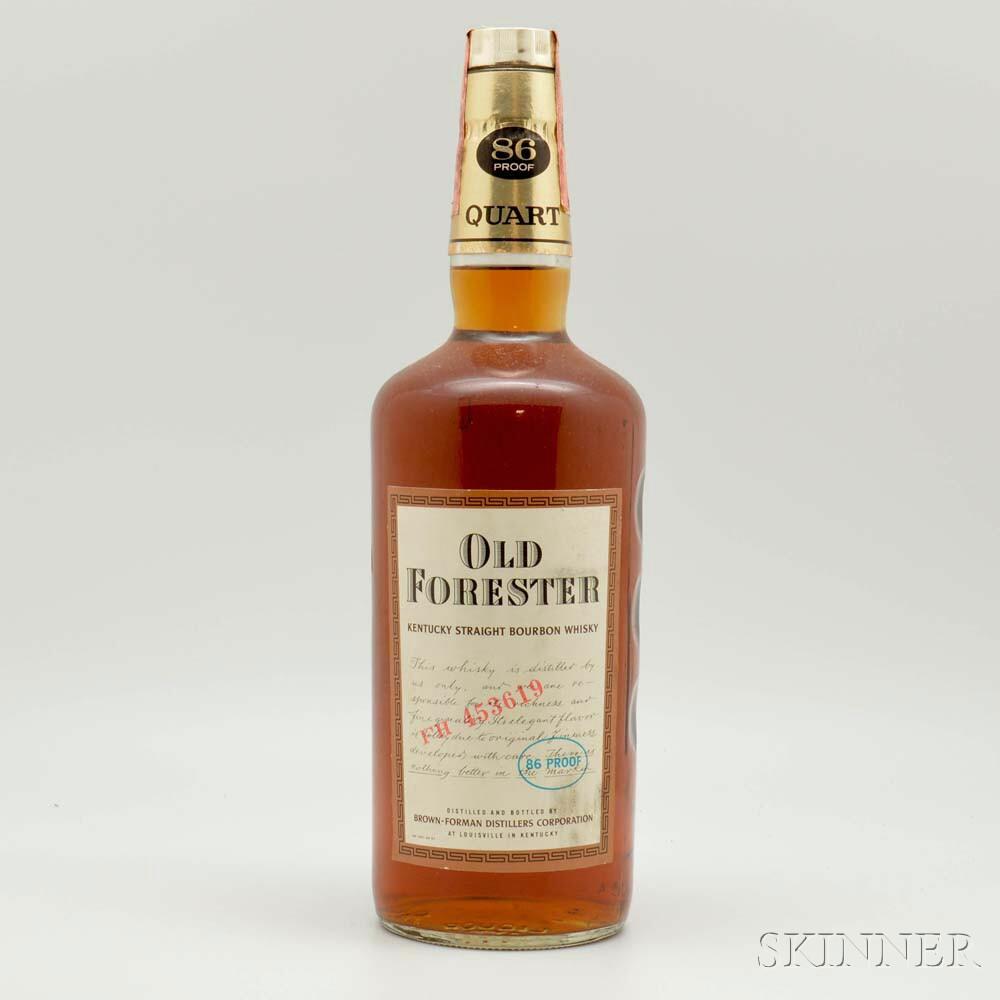 Old Forester, 1 quart bottle