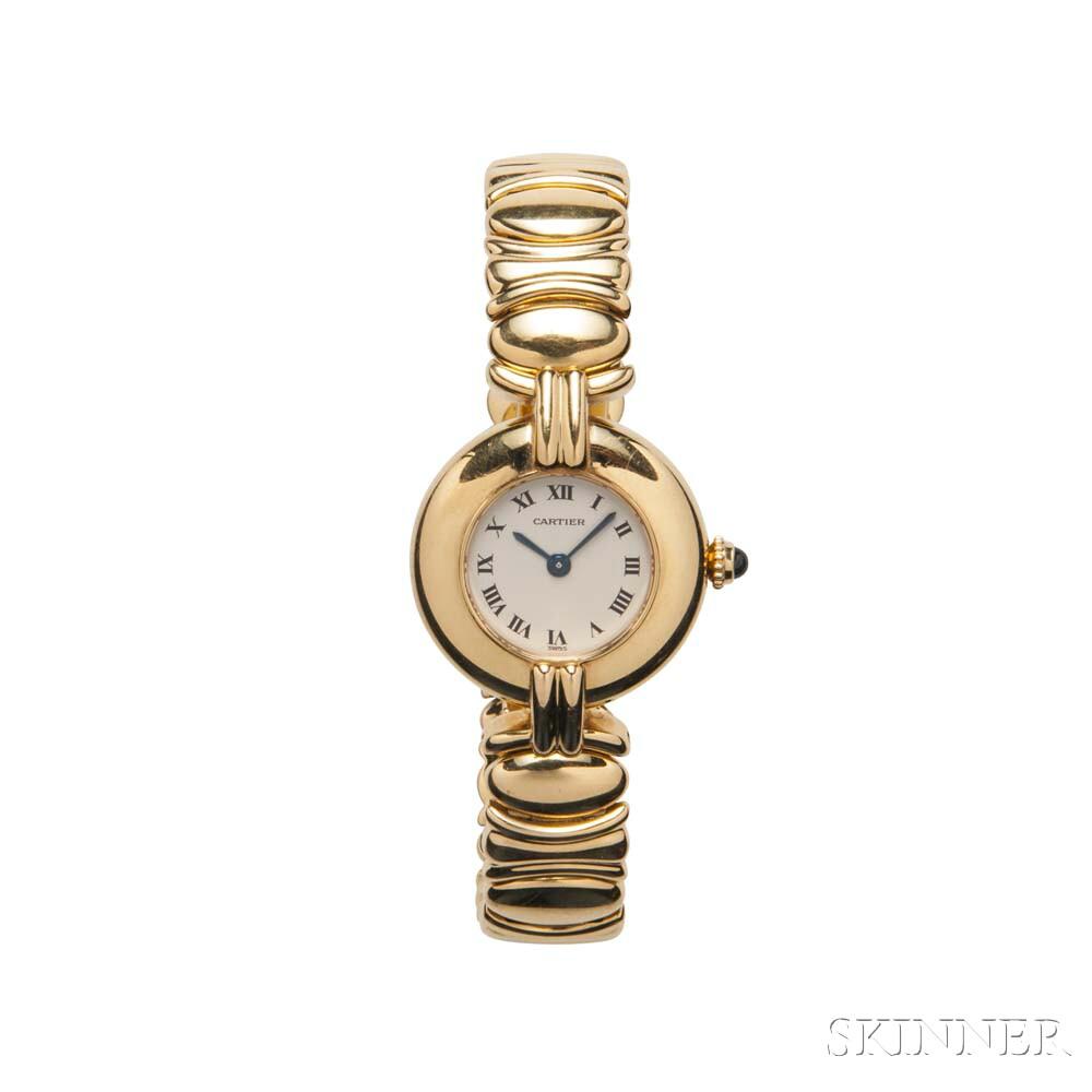 "18kt Gold ""Colisee"" Wristwatch, Cartier Paris"