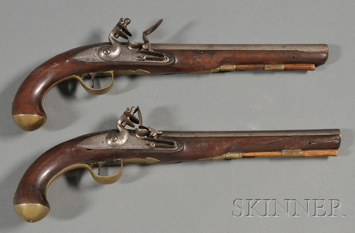 Pair of Revolutionary War Pistols
