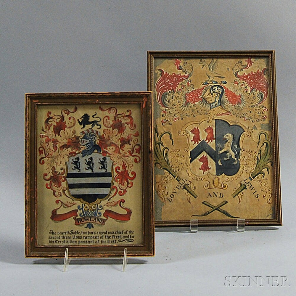 Two Framed Coat of Arms