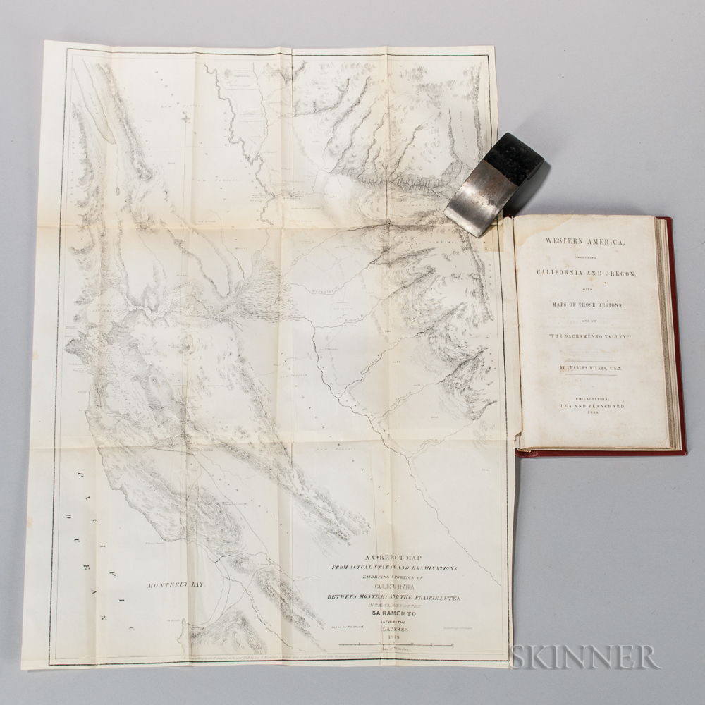 Wilkes, Charles (1798-1877) Western America, including California and Oregon, with Maps of those Regions, and of the Sacramento Valley.