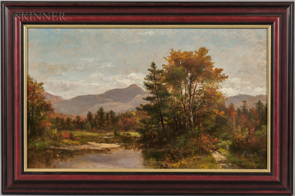 White Mountain School, 19th Century      Mountain in Early Autumn, Possibly Mount Chocorua