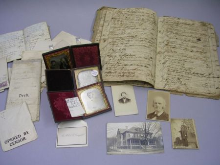 Group of 18th and 19th Century Ephemera, Documents and Early Photographs Relating to Housatonic County, New York and Western Massachuse