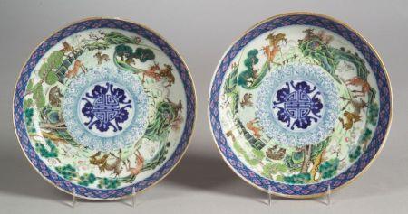 Pair of Tou Tsai Plates