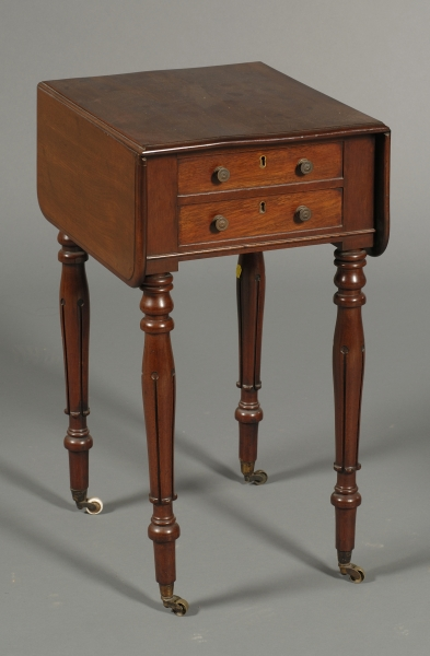 William IV Mahogany Two-drawer Work Table