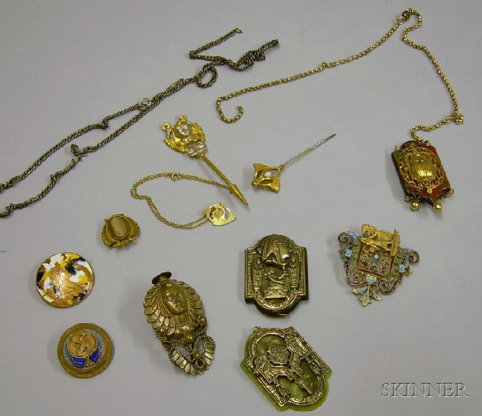 Group of Egyptian Revival Costume Jewelry.