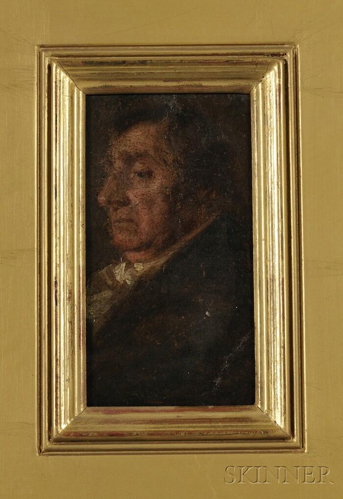 Continental School, 19th Century      Portrait Head of a Man