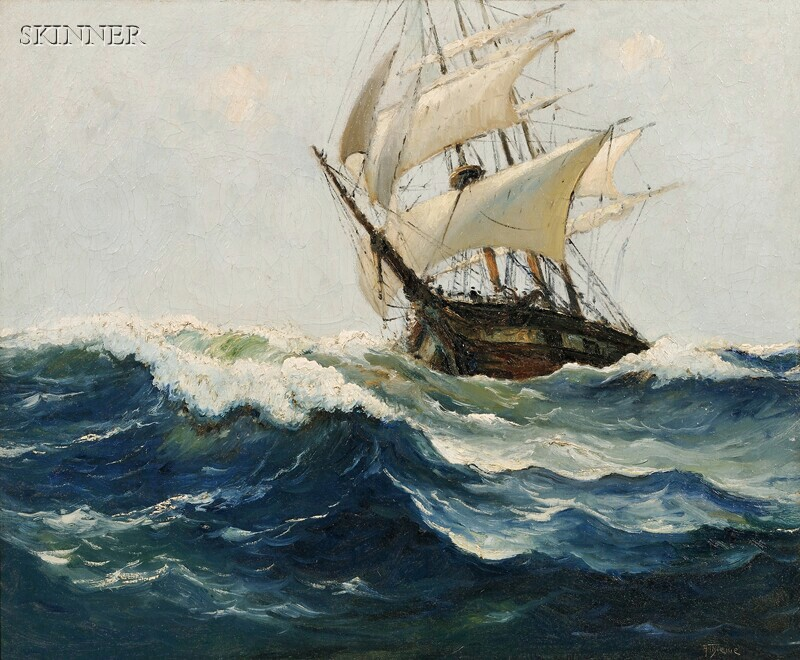 Anthony Thieme (American, 1888-1954)      Ship at Sea