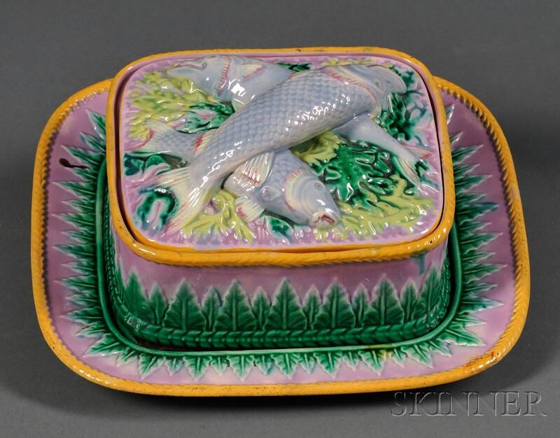 George Jones Covered Sardine Dish and Tray