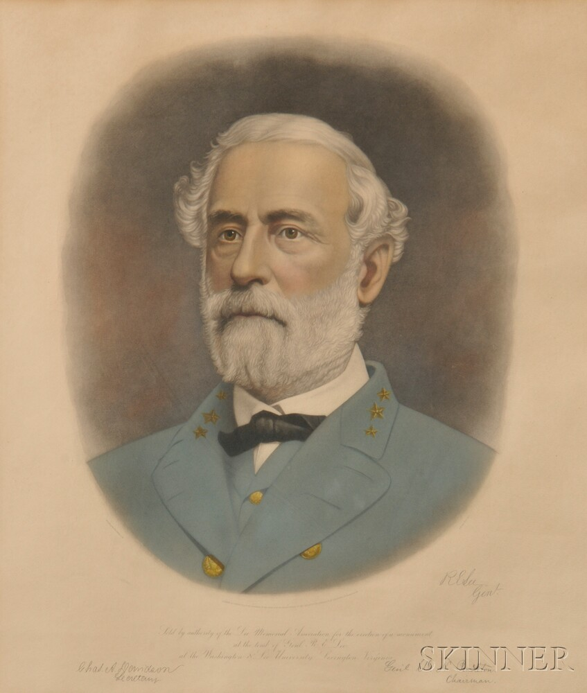 Engraved Portraits of Confederate General Lee and General Jackson