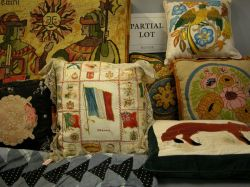 Large Group of Decorative Pillows, Assorted Quilts and Textiles.