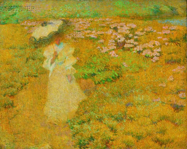 Philip Leslie Hale (American, 1865-1931)      A Walk Through the Fields