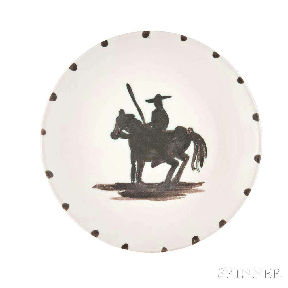 Pablo Picasso (Spanish 1881-1973) Picador Pottery Plate