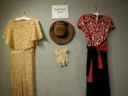 Group of 1920s-1940s Womens Dresses, Cape and Accessories.
