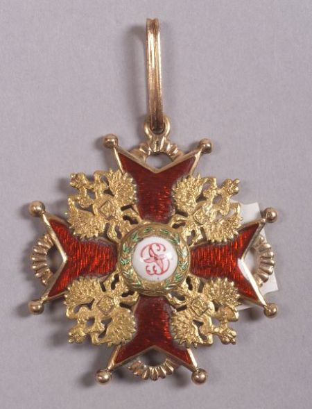 Russian Gold and Enamel Order of St. Stanislas