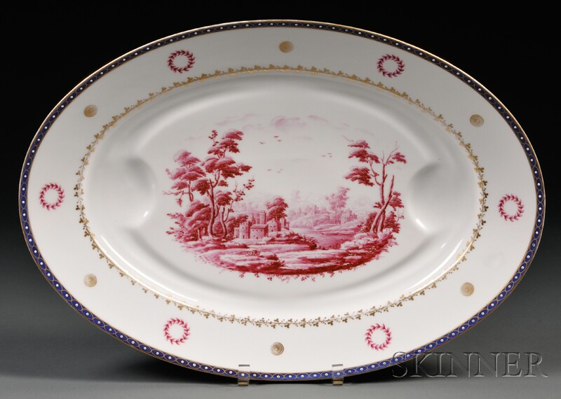 Ginori Porcelain Platter with Well