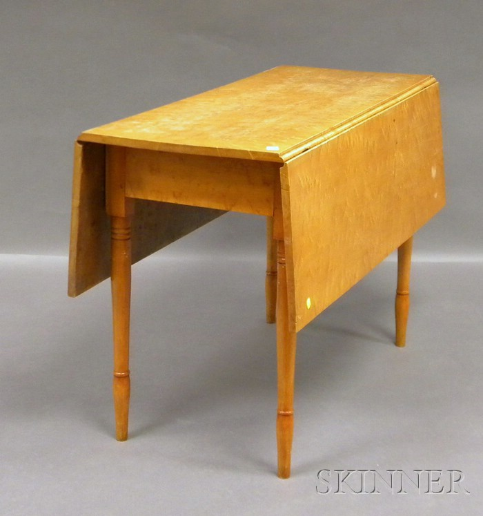 Bird's-eye Maple and Maple Drop-leaf Table