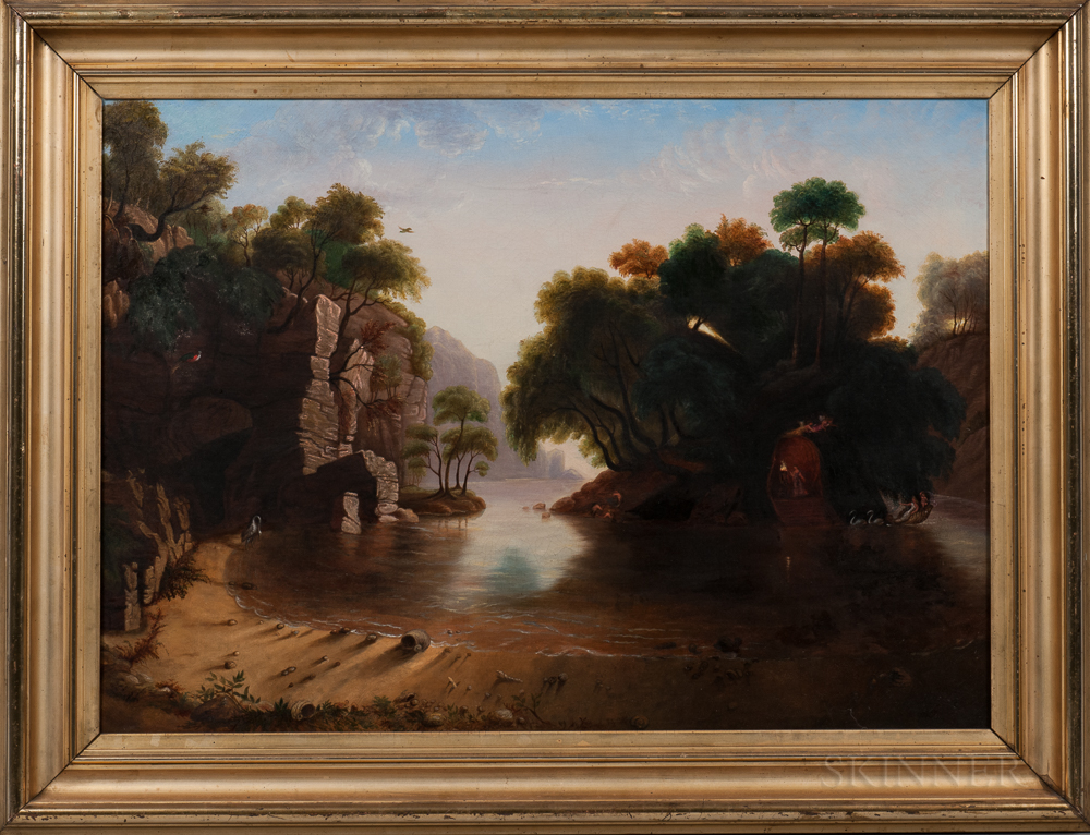 American School, 19th Century      Allegorical Scene