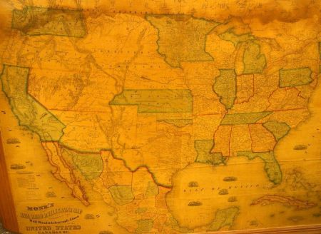 Framed Monk\'s Railroad & Telegraph Map in the United States | Sale ...