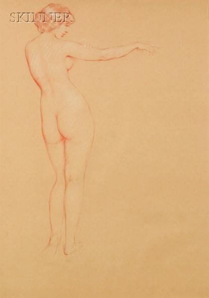 Philip Leslie Hale (American, 1865-1931)      Full Length Nude