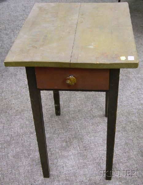 Federal Painted One-Drawer Stand.