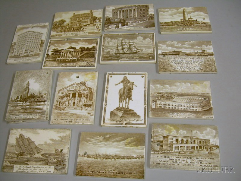 Fifteen Wedgwood Calendar Tiles