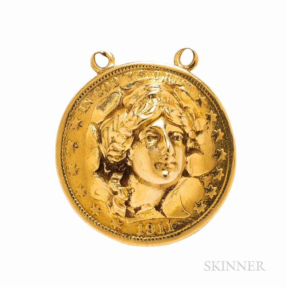 Gold Coin Pendant