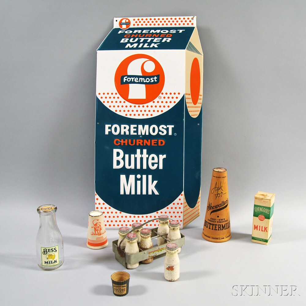 Group of Milk-related Items