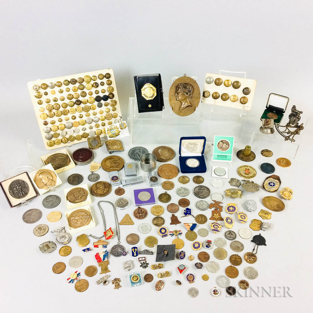 Group of Medals, Police Badges, and Buttons