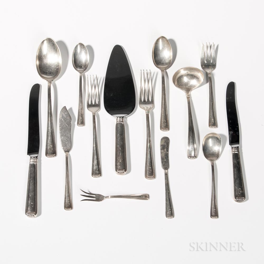 Shreve, Crump & Low Sterling Silver Flatware Service