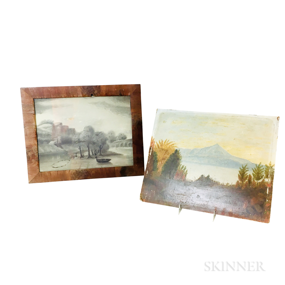 Two Folk Art Landscapes