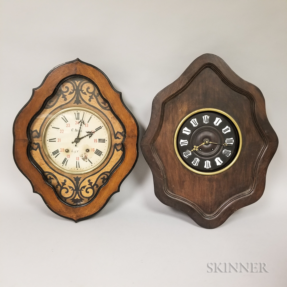 Two French Baker's Clocks