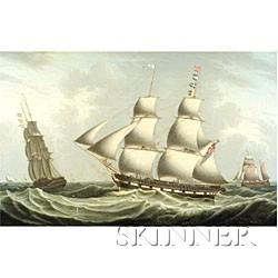 Robert Salmon (Scottish/American, 1775-1844)  The Snow Sophia off Greenock.