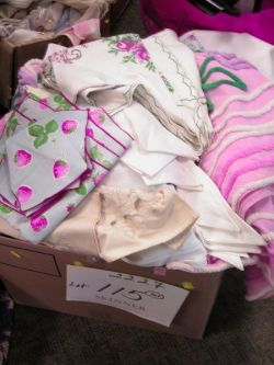 Two Boxes of Assorted Table and Personal Linens.