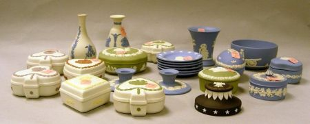 Twenty-four Modern Wedgwood Solid Jasper Items