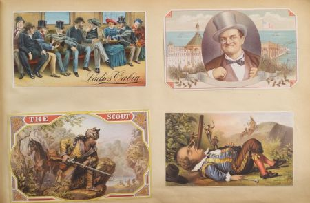 19th Century Album of Chromolithograph Cigar Box and Tobacco Labels, Labels, Prints,   and Graphics