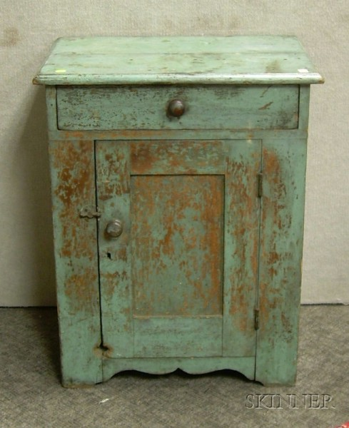 Green-painted Wooden Commode