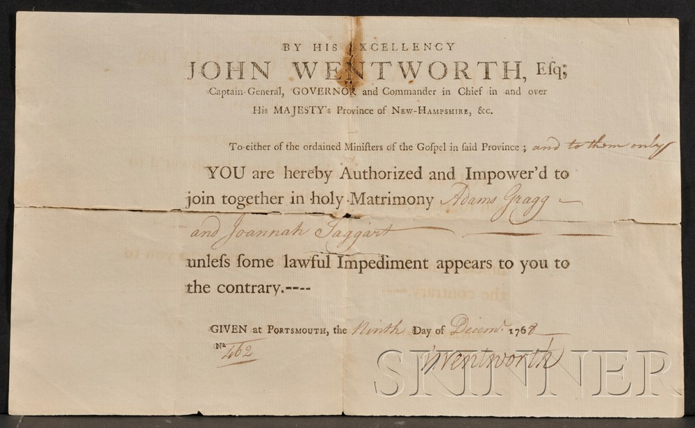(New Hampshire, Colonial), Wentworth, John (1719-1781)