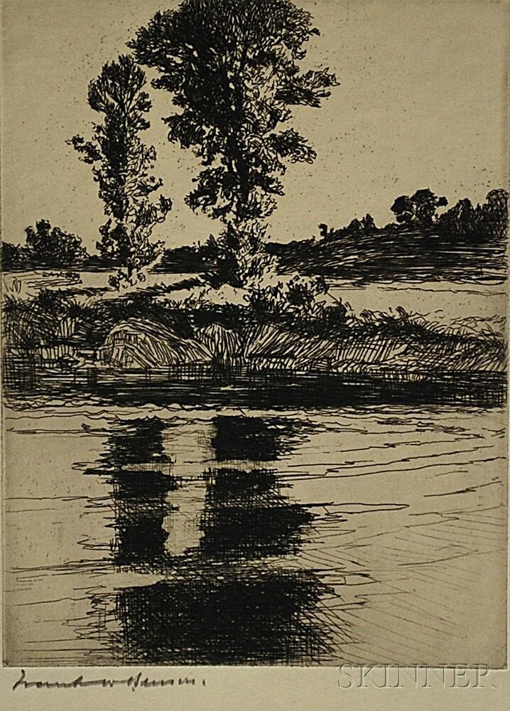 Frank Weston Benson (American, 1862-1951)      The Pool