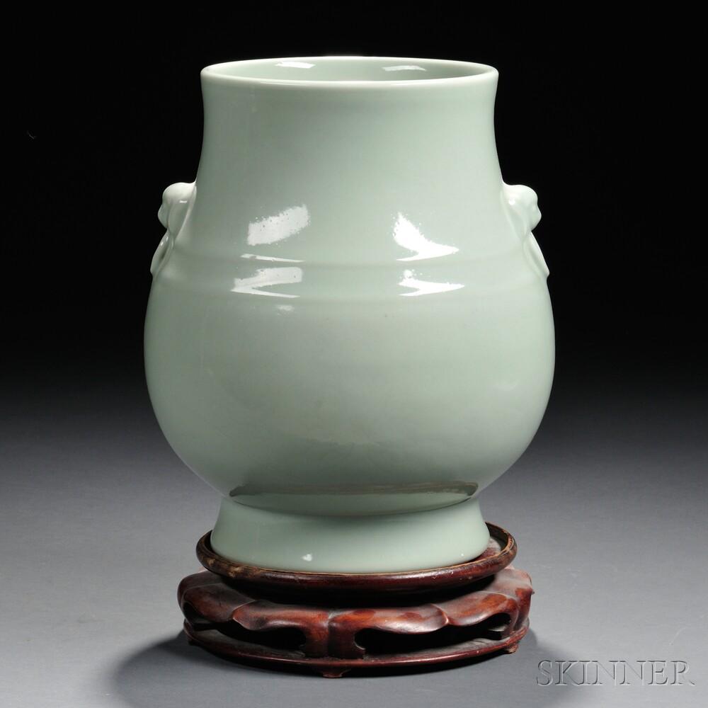 Celadon-glazed Vase