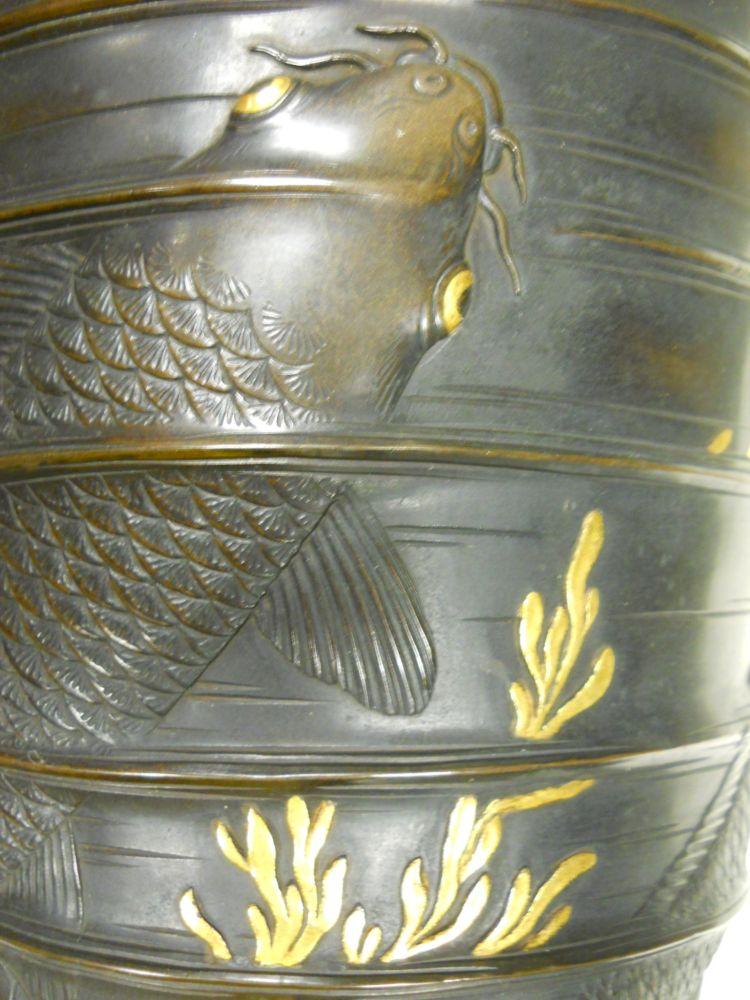 Pair of Cast Bronze Vases