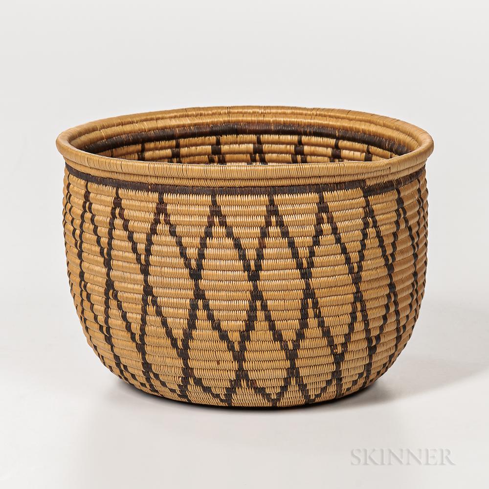 California Polychrome Basketry Bowl
