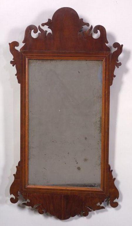 Chippendale Mahogany Inlaid Mirror